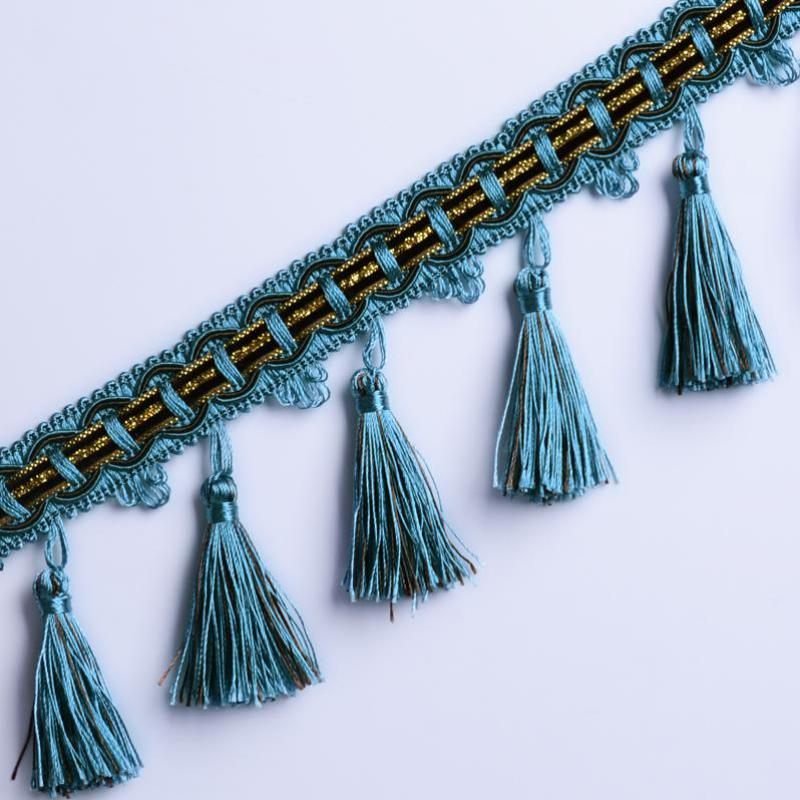 12yards/lot Decorative Tassels For Curtains Home Textile Drapery Sewing Decoration Diy Borlas Decorativas Coton Gland Fabrik