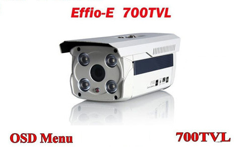 Free shipping infrared video camera ccd sony effio 700 tvl hd surveillance four lamps array waterproof