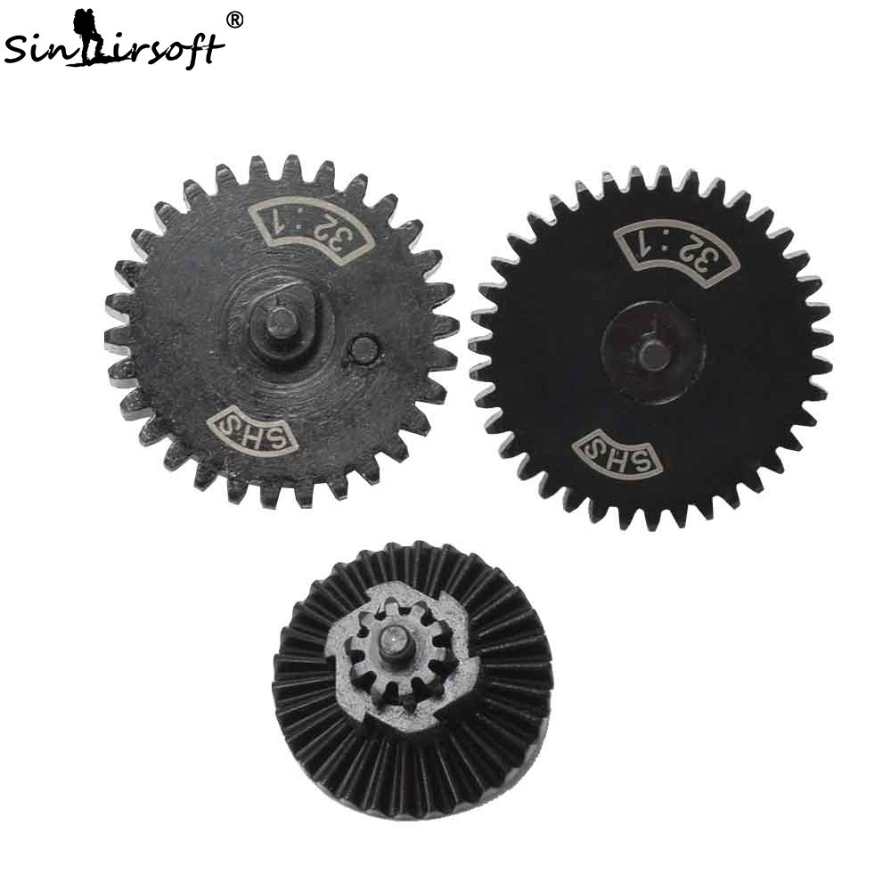 SHS 32:1 Infinite Torque Up Gear Set For Ver.2 / 3 AEG Airsoft Gearbox Shooting Paintball Hunting Accessories