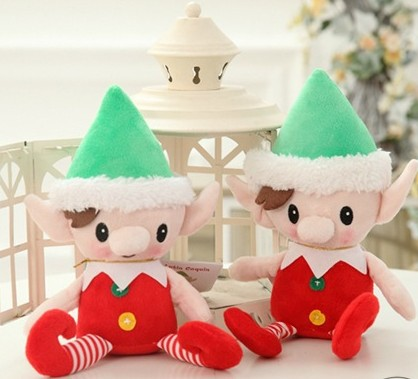 30cm Cute Christmas Spirit Doll Elf On Shelf Christmas Tradition Plush Soft Doll Animal Stuffed Toy For Baby Kids Birthday Gifts