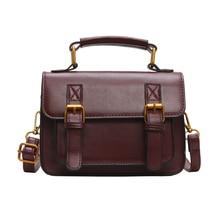 HUANILAI Womens Bag  Luxury Designer Leather Handbag Retro Double Belts Bags Girl Shoulder LC02