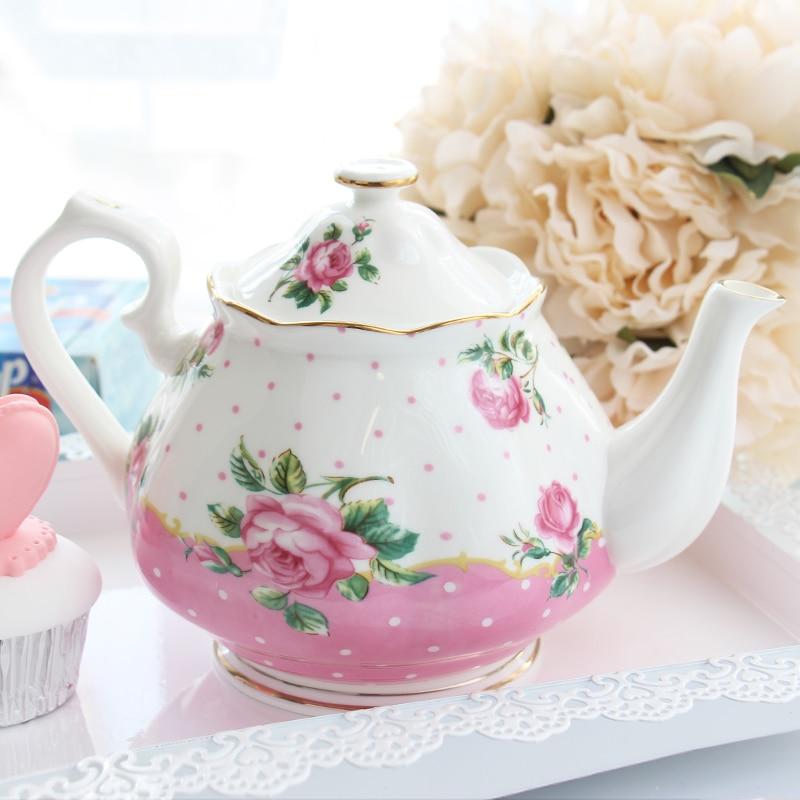 Théière à café de haute qualité théières de mode théière en porcelaine de grande capacité