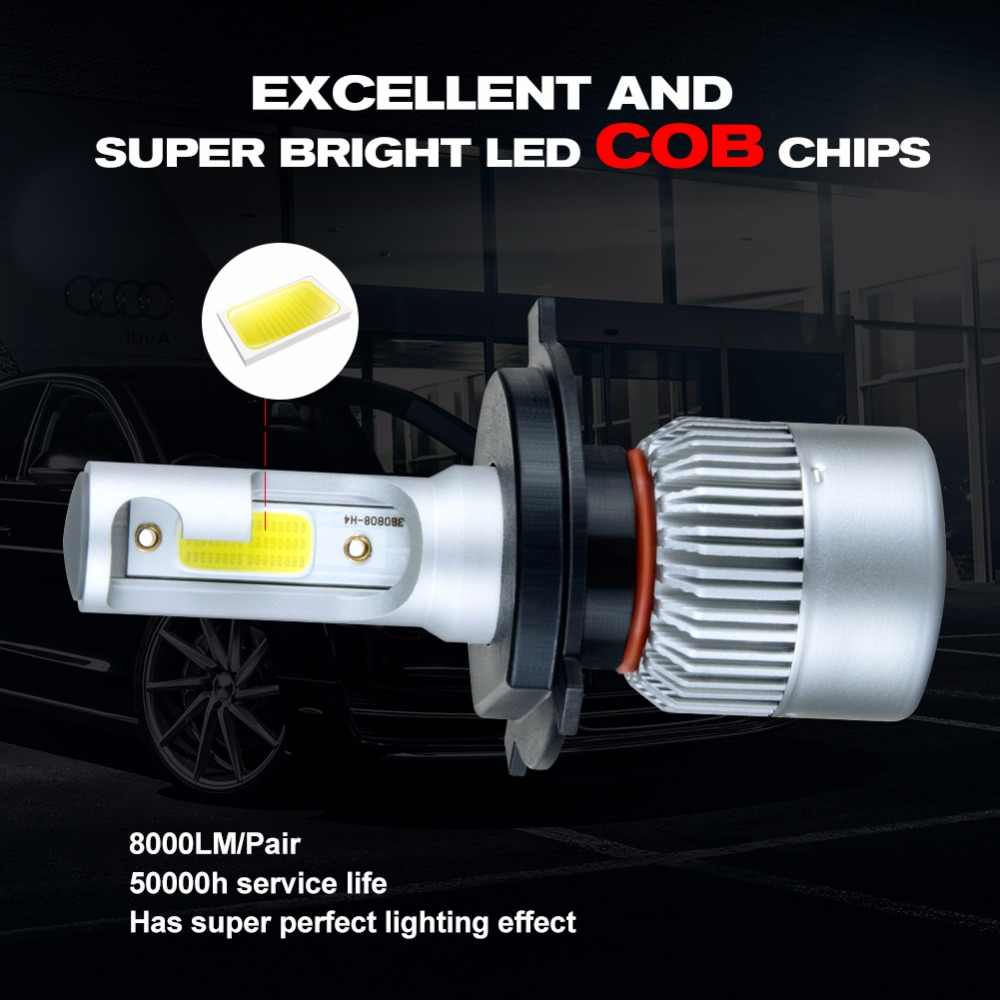 Foxcncar H7 H4 H11 H1 LED Car Headlights Bulb mini Lamp 9005 9006 COB CSP Chip 12V 10000lm 72W 6500K 24V Auto moto truks IP67