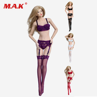 1/6 Sexy hp053 hp056 lace underwear Lingerie suit white /black /red/ purple For 12 Female Action Figure Body PH Doll Acc