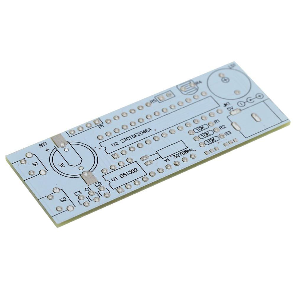UESH-4-Digit <font><b>DIY</b></font> <font><b>LED</b></font> электронные часы комплект minicontroller 0.8 дюйма цифровой трубки часы с термометром почасовой сигнал Функция <font><b>DIY</b></font>