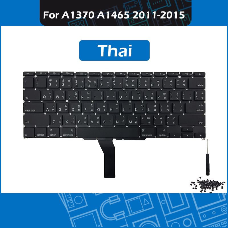 New A1370 A1465 TH Thai Keyboard for font b Macbook b font Air 11 Thailand Replacement