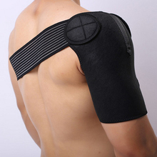 Black Shoulder Bandage Spine Support Belt Bone Care Sports B