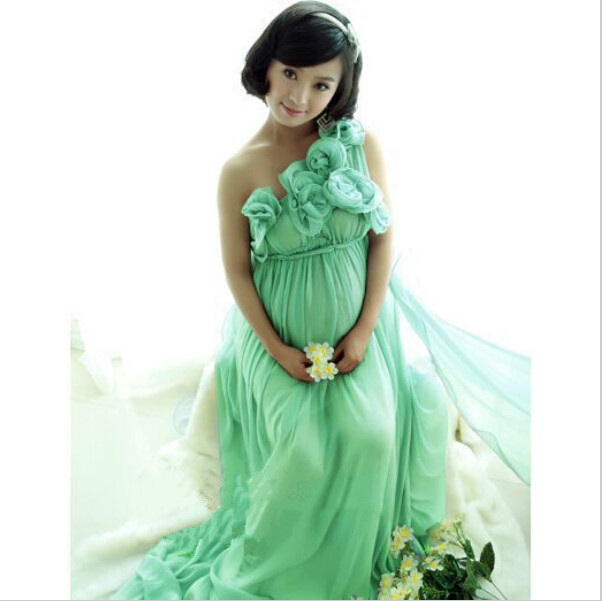8310a58381dbe Maternity Photography Props Clothes Pregnancy Photo Shoot Gown Set Top Dresses  Pregnant Women Clothing Baby Shower Free shipping-in Dresses from Mother &  ...