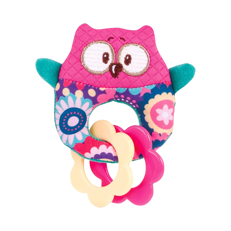 Baby Rattle Canpol Babies Forest Friends Owl, 0+ baby teether canpol babies water cooling steering wheel 0