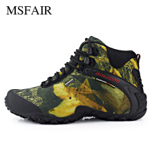Msfair Men Outdoor Athletic Sport Shoes For Men Hiking Shoes Antiskid and wear-resistant Hiking boots waterproof Men Sneakers