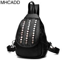 Mhcadd 2017 Для женщин рюкзак новый заклепки мода рюкзак Обувь для девочек Корейский стиль Рюкзаки Повседневное дорожная сумка Mochila Feminina