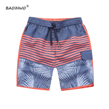 Baoziwo baby boy shorts boys shorts summer polyester microfiber with mesh size 8-16,boys bermudas kids summer boys  shorts