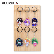 лучшая цена Saint Seiya  Keychain For Action Figure Peripherals Double Sided Cute Japanese Anime Key Chains AKL248