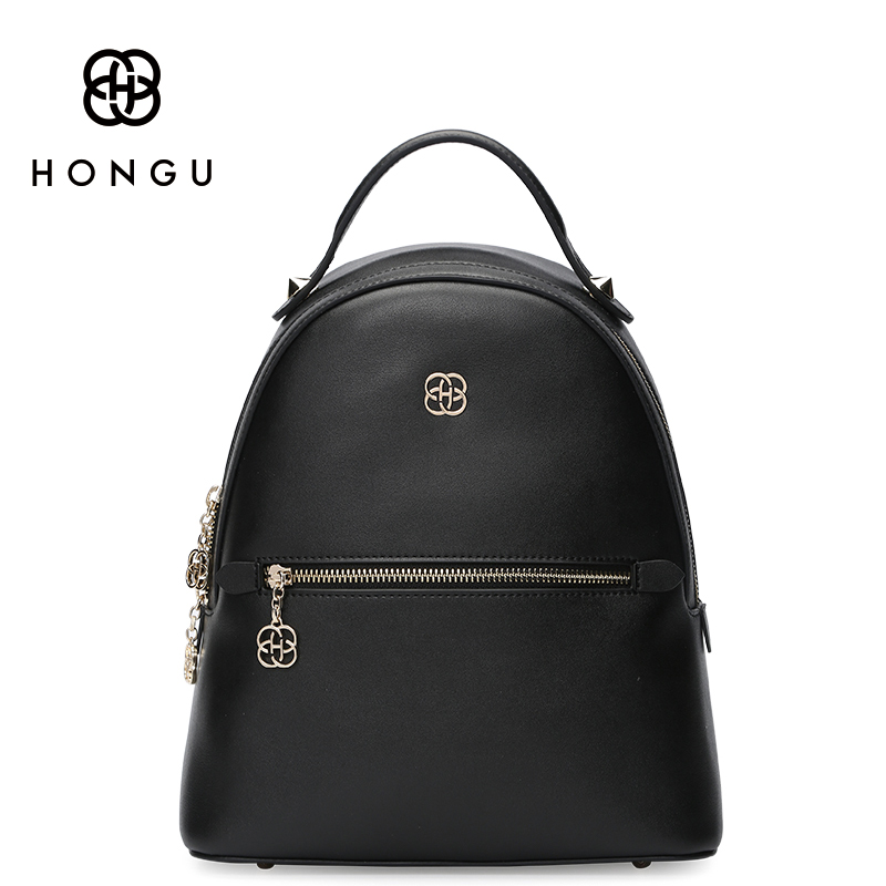 HONGU Famous Brand Cow Leather Bags Women Backpack Shoulder Top Handle Bags  Anti theft Backpack Beach Bag For Girls Cute Leisure-in Backpacks from  Luggage ... 526c249760f68