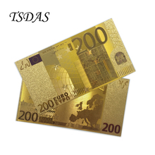 Euro Currency 200 Euro Bill Limited Gold Bank Note 24 Kt 0.999 Gold Foil For Business Gift 10pcs/lot