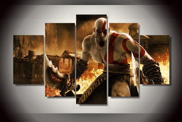 Large hd god of war ascension kratos poster 5 pcs wall pictures large hd god of war ascension kratos poster 5 pcs wall pictures for living room home voltagebd Gallery