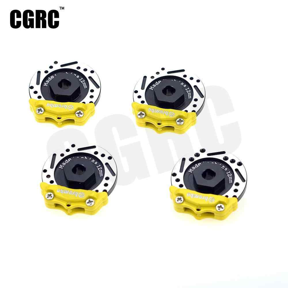 4pcs Metalen Remschijf Remklauw 12mm Adapter Voor 1/10 Rc Crawler Auto Drifting Rc On-road Auto TRX4 Axiale Scx10 HPI YD-2