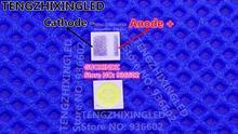 Jufei luz de fundo led, luz de fundo branca fria 2.3w 3v 3030 luz de fundo lcd para aplicações de tv