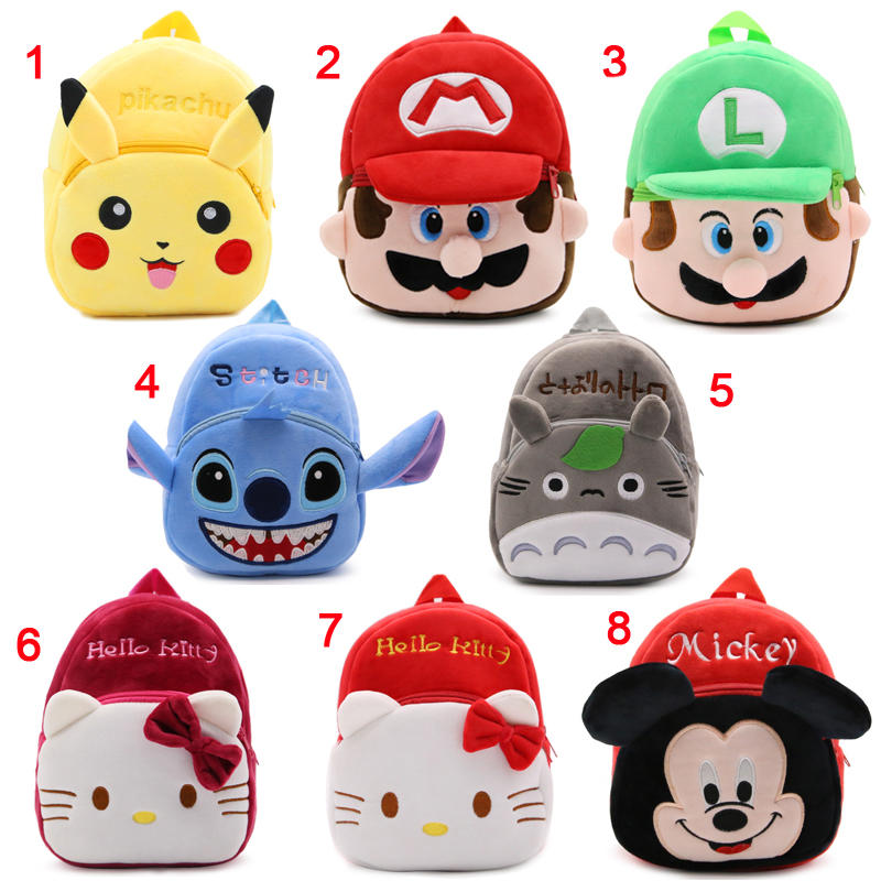 Cute cartoon baby kids plush backpack font b toys b font mini school bag Children s