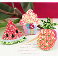 New Style Glitter decoration Character watermelon/pineapple/Cake/Ice cream shape handmade Wool Felt diy garment/hair accessories