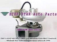 Free Ship TD07 49187-00270 ME073935 49187-00271 ME073573 Turbo Turbocharger For Mitsubishi Fuso FM 657 FM657 6.0L 6D16T 6D16