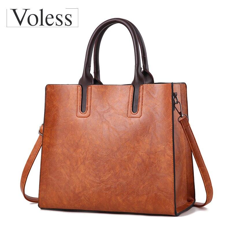 Роскошные Сумки кожа Для женщин Сумки на плечо большой Ёмкость Курьерские сумки женские Повседневное сумка новый Bolsas feminina SAC основной