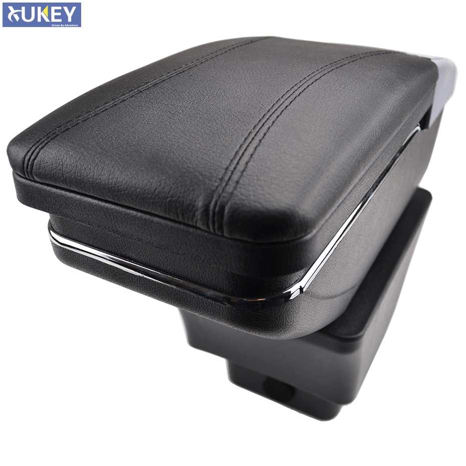 Center Centre Console Storage Box For Skoda Fabia 2 2008-2013 Armrest Arm Rest Rotatable 2009 2010 2011 2012