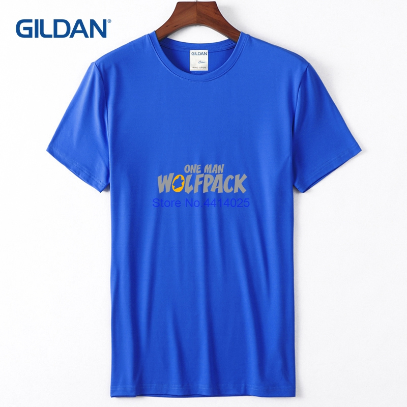 6a842647a Funny Political T Shirts 2018 One Man Wolfpack Plain White Tees Mens Cloth  Mens T Shirt Low Price-in T-Shirts from Men's Clothing on Aliexpress.com ...