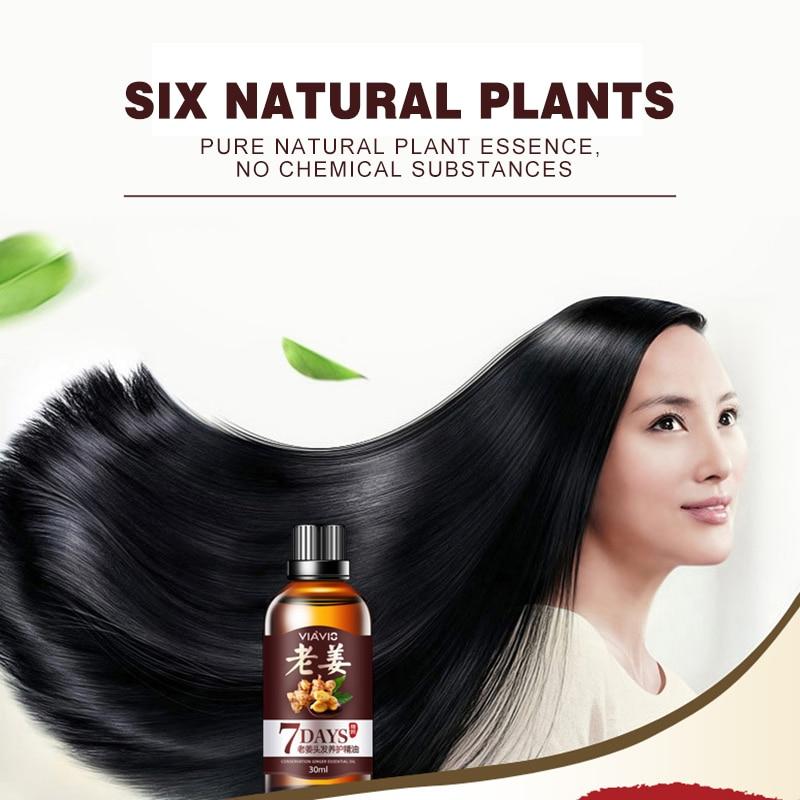 30ml Hair Loss Treatment Ginger Hair Care Fast Hair Growth Essence Oil for Men Women TSLM2 4