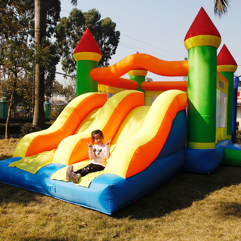 YARD Inflatable Trampoline for kids giant inflatable games Bounce House Double Slide Inflatable Bouncer Jumping Castle yard bouncy castle inflatable jumping castles trampoline for children bounce house inflatable bouncer smooth slide with blower