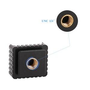 Image 5 - Kaliou 2 шт U Тип 1/4 винт один горячий башмак SC 6 Крепление адаптер для горячего башмака для вспышки
