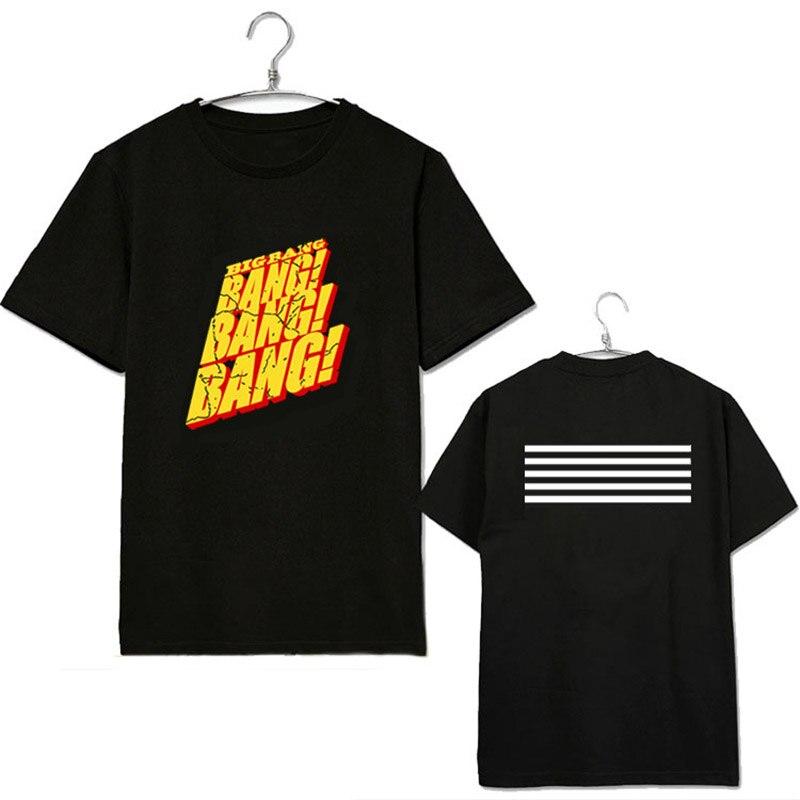 ONGSEONG KPOP BIGBANG BANG GD Chemise Album Chemises K-POP Casual Coton Vêtements T-shirt T-shirt À Manches Courtes Tops T-shirt DX209