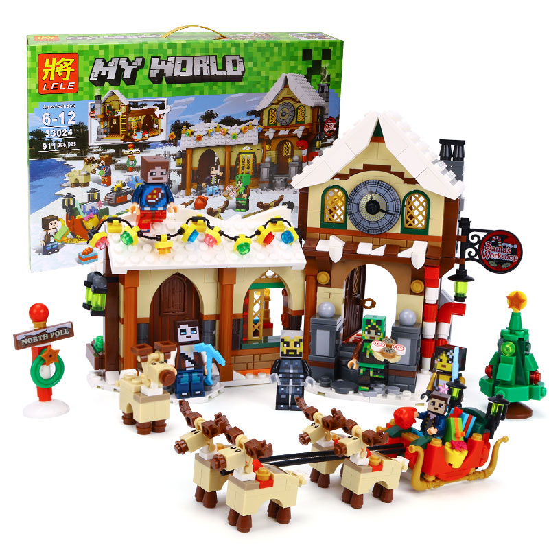 ФОТО Winter Christmas Series The Father Christmas' Working Room Winter Toy Shop 10245 Building Blocks Bricks Educational Toys 33024