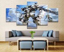 Gundam Anime 5 Piece HD Print Wall Art Canvas For Living Room Decor Painting Modern Home Picture