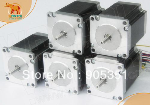 5 PCS NEMA23 Wantai STEPPER MOTEUR OZ-IN, 3A, 4 Plomb, 57BYGH627