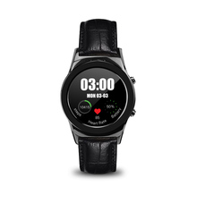 Voll Runde Stahl Armbanduhr Bluetooth Verbunden Smart Watch SIM SD Slot Pulsmesser Smartwatch für Android Apple telefon