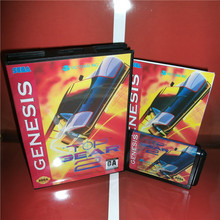 Топ Gear2 США Крышка с коробкой и руководство для Sega megadrive Genesis игровая консоль 16 бит MD карта