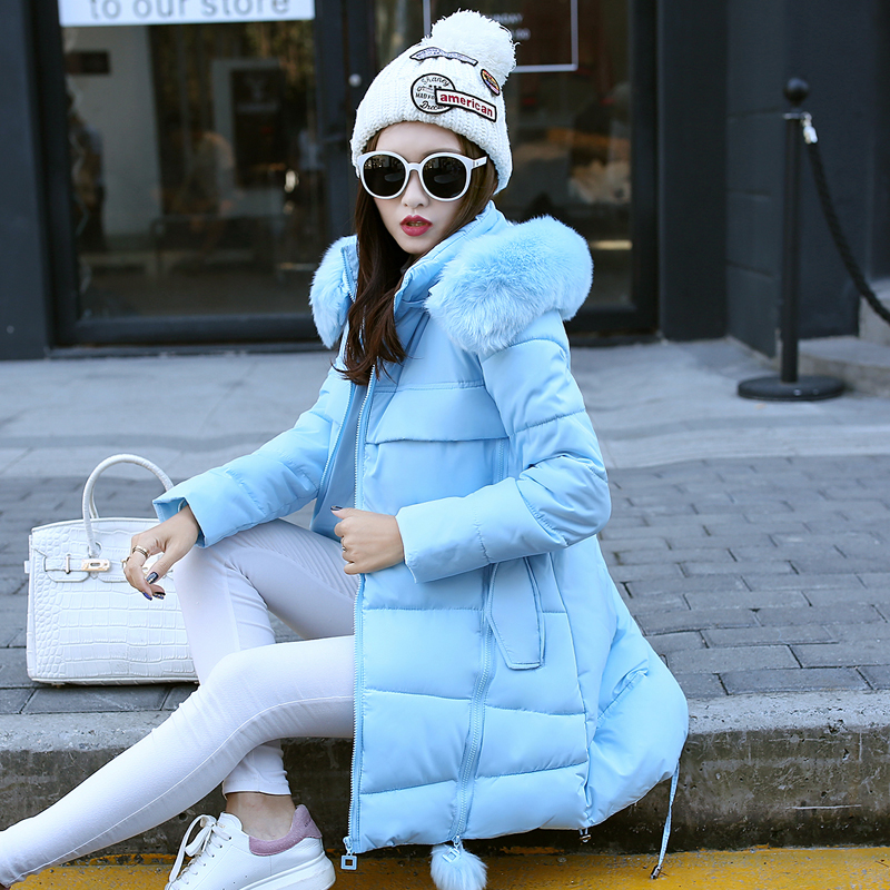 Sweet Lovely Girl Cotton Coat Hooded Russia Winter Warm Jacket Fur Collar Plus Size Slim Outwear Pentagon Pattern Women MY0079 2017 ukraine exclusive custom winter coat magic cloth dolls and original sweet bunny ears hooded casual loose lovely cotton