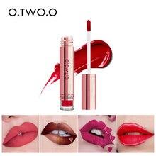 купить O.TWO.O Brand Liquid Lipstick Waterproof Long Lasting Matte Velvet Lip Gloss Makeup Smooth Lip Tint Pigment Red Lips Cosmetics дешево