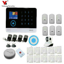 YobangSecurity 3G WCDMA CDMA WiFi GPRS Intruder Burglar Alarm System With Wireless Outdoor Siren IP Camera