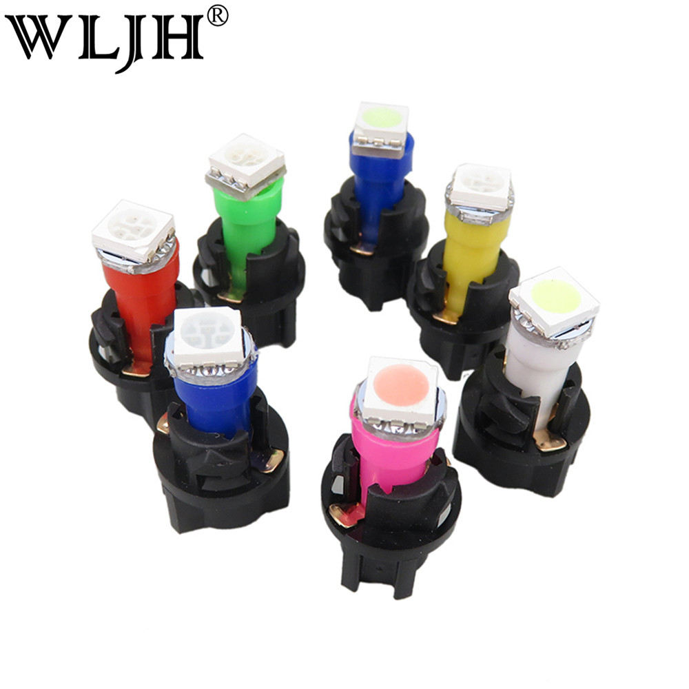 WLJH 5 Colors Car Styling T5 Gauge light 5050 SMD Instrument Dashboard Led Indicator Lamp Bulb with 3/8 Twist Socket For Honda