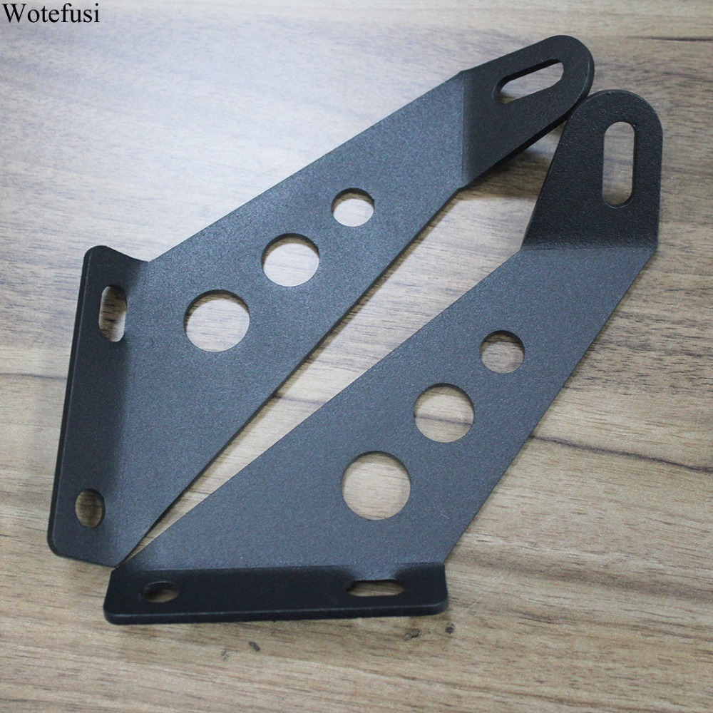 Wotefusi Hood Spot Flood Light Lamp Lens Bracket Holders Support Steel Plate For Jeep Wrangler 07-16 08 09 11 13 14 15 [QPA280]