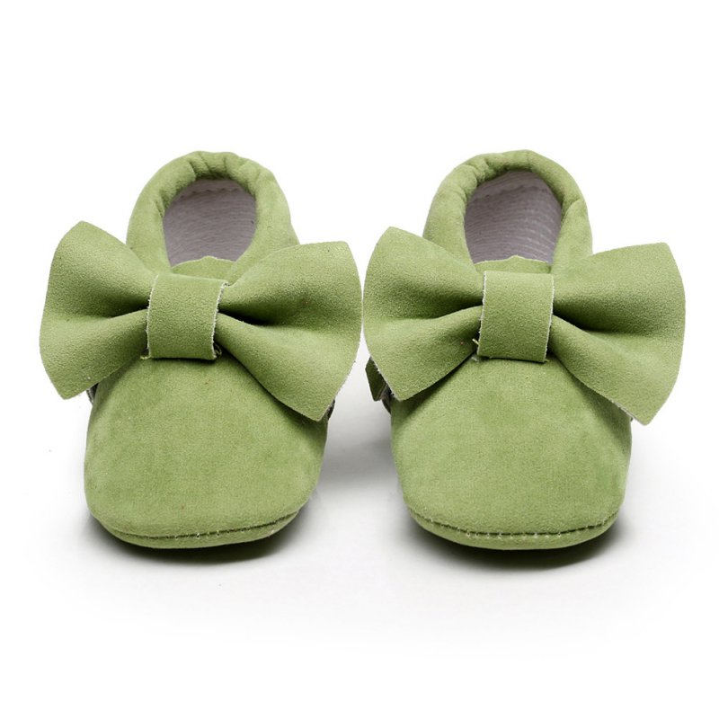 Baby Girl Bowknot Prewalkers Shoes Soft Bottom Tassels Baby Moccasin Infant Crib Soft Shoes