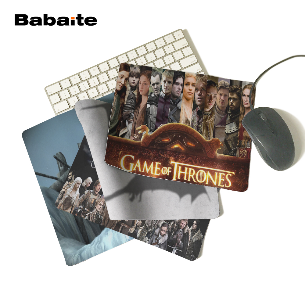 BabaiteHBO TV Series Game of Thrones Season3 Figures Shadow Personalized Mouse Pad Cool Luxury Rubber Mouse Gaming Pad Best Gift
