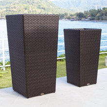 2017 all weather outdoor indoor french rattan vertical garden planters