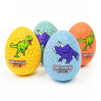 Easter Decor Colorful Crackle Dinosaur Egg Simulation Dinosaurs Animal Model Surprise Toys For Children drop shipping M5Novelty & Gag Toys