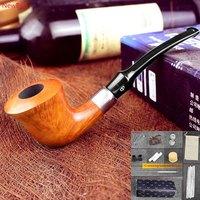 NewBee 10 Tools Set Imported Briar Wooden Handmade Bent ZULU Smoking Pipe Birthday Gifts Present For