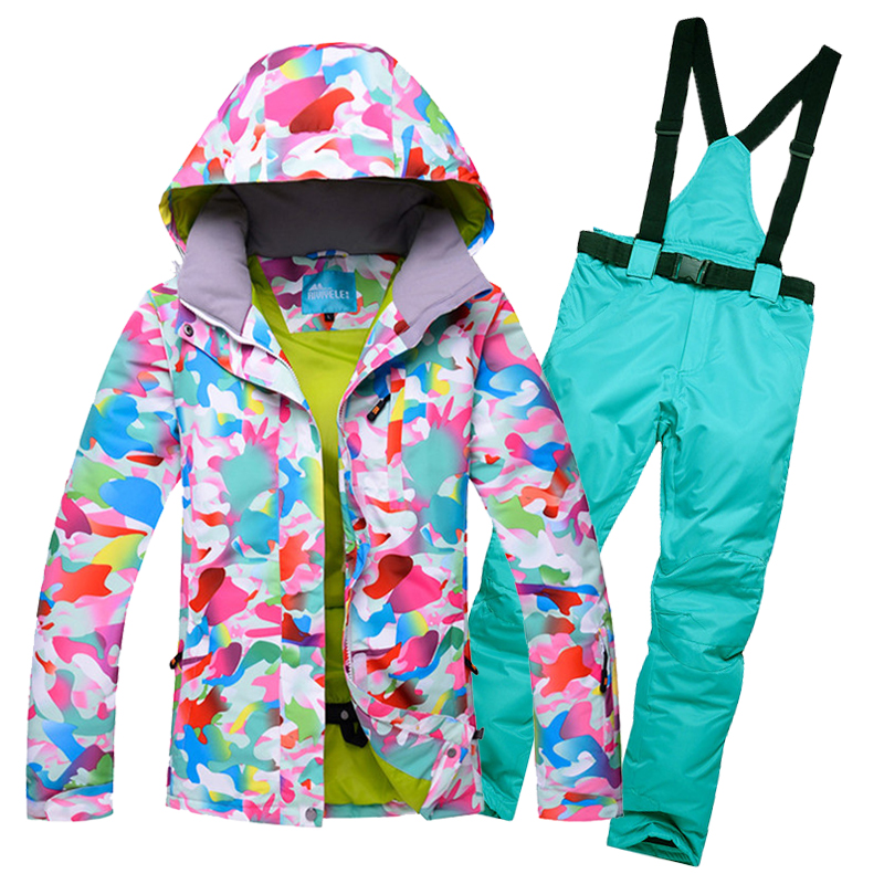 2017 Winter Snow Weather womens ski suits waterproof female snow jackets and pants sets thicken breathable snowboard clothing 2017 winter snow weather womens ski suits waterproof female snow jackets and pants sets thicken breathable snowboard clothing