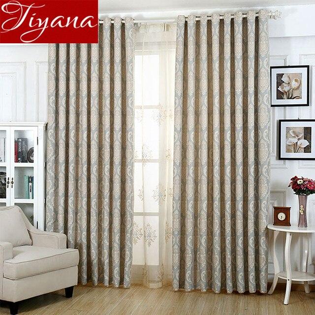 European Luxury Jacquard Curtains Window Screen Yarn Modern Simple Living Room Bedroom Tulle D Cortinas