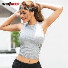 Спортивные футболки с открытой спиной Женские Короткие топы для фитнеса женские тонкие белые сексуальные рубашки хлопковая спортивная одежда дышащий спортивный топ для тренировок